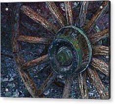 Acrylic Print featuring the digital art Wagon Wheel by Stuart Turnbull