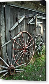 Acrylic Print featuring the photograph Wagon Wheels by Joanne Coyle