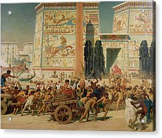 Wagons Detail From Israel In Egypt Acrylic Print