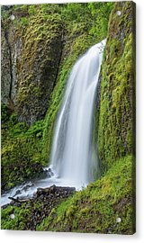 Acrylic Print featuring the photograph Wahkeena Falls by Greg Nyquist