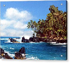 Waianapanapa Maui Hawaii Acrylic Print by Kurt Van Wagner