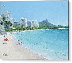 Waikiki Beach Honolulu Hawaii Acrylic Print