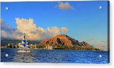 Waikiki Cruising Acrylic Print