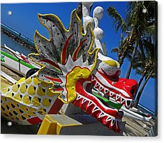 Waikiki Dragon Acrylic Print by Elizabeth Hoskinson