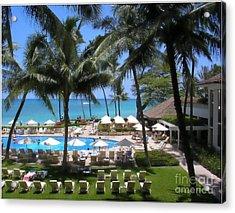 Waikiki Impressionism Acrylic Print