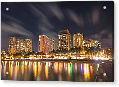 Waikiki Nights Acrylic Print by Brian Governale