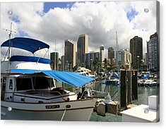 Waikiki Port Acrylic Print by Andrei Fried