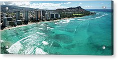 Waikiki To Diamond Head Acrylic Print