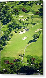 Wailea Gold And Emerald Courses Acrylic Print by Ron Dahlquist - Printscapes