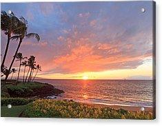 Wailea Sunset Acrylic Print