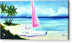 Waimanalo Beach #187 Acrylic Print by Donald k Hall