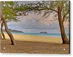 Waimanalo Beach Acrylic Print by Michael Peychich
