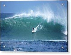 Waimea Bay Boomer Acrylic Print by Kevin Smith