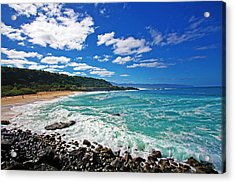 Waimea Bay Acrylic Print by Ty Helbach