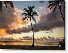 Waimea Beach Sunset - Oahu Hawaii Acrylic Print