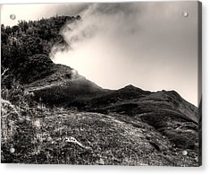 Waimea Early Morning Fog Acrylic Print