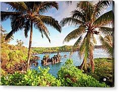 Wainapanapa, Maui, Hawaii Acrylic Print by M.M. Sweet