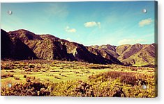 Acrylic Print featuring the photograph Wainui Hills by Joseph Westrupp