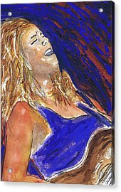 Waited For June A Portrait Of Megan Burtt Acrylic Print by Charles Snyder