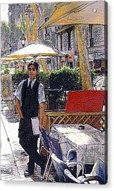Waiter On La Rambla Acrylic Print
