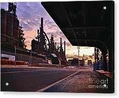 Acrylic Print featuring the photograph Waitin' On The Bus by DJ Florek