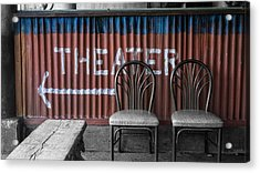 Corrugated Metal Theater Sign Acrylic Print