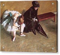 Waiting Acrylic Print by Edgar Degas