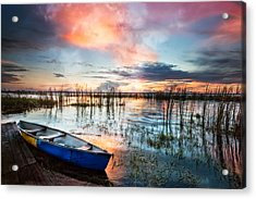Waiting For Dawn Acrylic Print by Debra and Dave Vanderlaan
