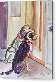 Waiting For Mary Acrylic Print by Nancy Brennand