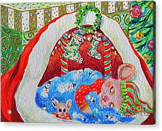 Waiting For Santa Acrylic Print by Li Newton