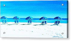 Waiting For The Beach Sitters Acrylic Print