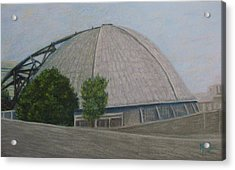 Waiting For The Next Event Mellon Arena Pittsburgh Acrylic Print by Joann Renner