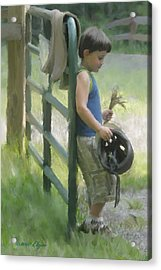 Waiting For The Pony Acrylic Print by Elzire S