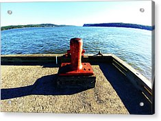 Waiting For The Ship To Come In. Acrylic Print