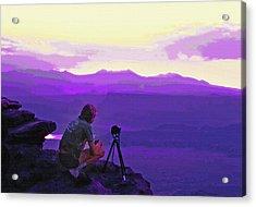 Waiting For The Sunrise - Dead Horse Point Utah Acrylic Print by Steve Ohlsen