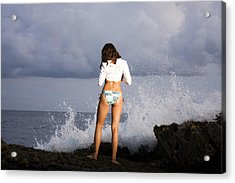 Waiting For The Sunset Acrylic Print by Marcos Vargas