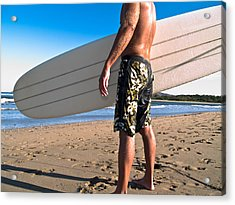 Waiting For The Surf Acrylic Print by Jim DeLillo