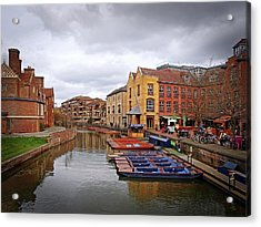 Acrylic Print featuring the photograph Waiting For The Tourists Cambridge by Gill Billington