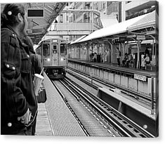 Waiting For The Train 3 Acrylic Print