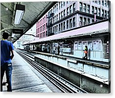 Waiting For The Train 4 Acrylic Print
