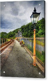 Waiting For The Train Acrylic Print by Ian Mitchell
