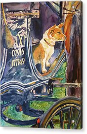 Acrylic Print featuring the painting Waiting For You by P Maure Bausch