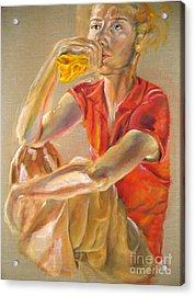 Waiting Acrylic Print by Iglika Milcheva-Godfrey