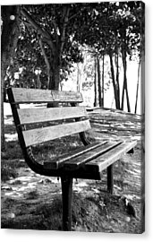 Waiting In Bw Acrylic Print by Edward Myers
