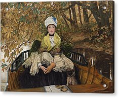 Waiting Acrylic Print by James Jacques Joseph Tissot