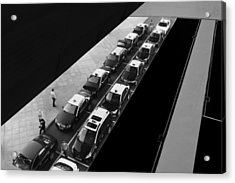 Waiting Lines Acrylic Print by Paulo Abrantes