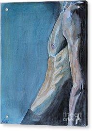 Waiting Man Acrylic Print by Jindra Noewi