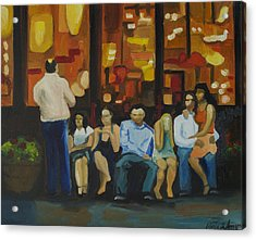 Waiting On A Taxi Acrylic Print by Patricia Arroyo