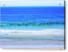 Waiting On A Wave Acrylic Print by Joseph S Giacalone