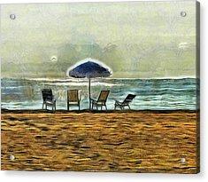 Waiting On High Tide Acrylic Print by Trish Tritz